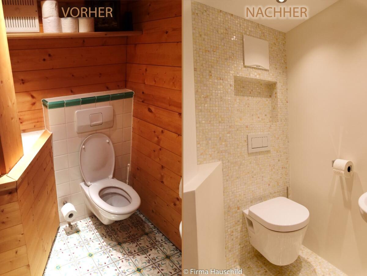 WC-Sanierung Vorher-Nachher